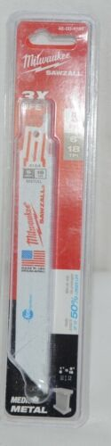 Milwaukee 48004184 Sawzall Blade 5 Pack Metal Blades New In Package