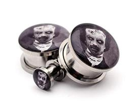 Pair of Screw on Picture Plugs Gauges Choose Style and Size (Zombie Edga... - $27.72