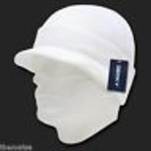 White Knit Acrylic Jeep Skull B EAN Ie Winter Ski Visor B EAN Ie Hat Cap - $27.07