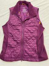 M100 GUC LL L.L BEAN Purple Full Vest Top Jacket WOMEN'S M Medium - $39.55