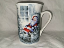 Santa Claus Resting in Wing Chair Surrounded by Christmas Gifts by Kent ... - $15.00