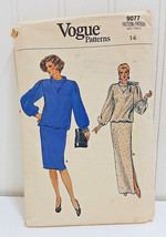 VOGUE Vtg Sewing Pattern 9077 Straight Skirted Dress Size 14 Long Loose ... - $24.66