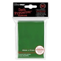 50 Ultra Pro Green Standard Deck Protector Card Sleeves Pokemon MTG ULP8... - $5.99