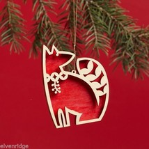Laser Wood Ornament Flourish Red Fox