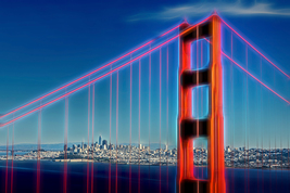 Golden Gate Bridge, Graphic Art, Fine Art Photos, Paper, Metal, Canvas P... - $40.00