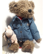 Boyds Bears Billy Ray Beanster & Petey Teddy Bear - $41.96
