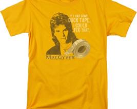 MacGyver Retro 80's action adventure TV series graphic gold t-shirt CBS1643 image 2