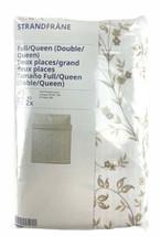 Ikea STRANDFRÄNE Full Queen Duvet Cover w/ 2 Pillowcases White Beige Tan... - $49.48