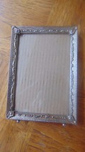 "Vintage Gold Metal 5"" x 7"" Stand Up Picture Frame Decorative Detail Photo- - $10.99"
