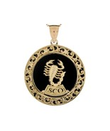 10K or 14K Yellow Gold & Onyx Scorpio Zodiac Pendant - $599.99+