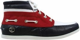 Timberland Newmarket Chukka Navy Blue/Red-White 28569 Men's SZ 10 - $130.00