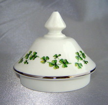 Royal Grafton Fine Bone China Green Shamrock Pattern Sugar Bowl Replacement Lid - $6.76