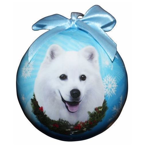 American greetings ornament 136 listings american eskimo christmas ball ornament dog holiday xmas pet lovers gift 995 m4hsunfo