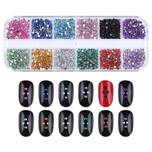 Nail Rhinestones kit Multi-size Gems Metal Nail Rivets Studs (3, 4 or 5 boxes) image 5