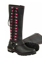 LADIES  14 INCH CLASSIC HARNESS SQUARE TOE LEATHER BOOT W/FULL LACING. M... - $139.99