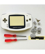 GBA Nintendo Game Boy Advance Replacement Housing Shell Screen Lens Whit... - $15.31