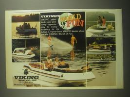 1979 Viking V190SI, V160SI, V190SC and V220SO boats Ad - Viking's world ... - $14.99
