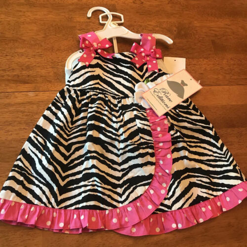 Rare Editions Baby Girls Pink Zebra Print 2 Piece Outfit Sz 12 Months - NWT - $15.76