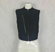BCBG Maxazria Vest Damien Faux Suede zippers women size XXS image 2