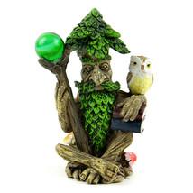 Tree Wizard Miniature, Fairy Garden Accessory,  Miniature Tree with Owl - $8.99