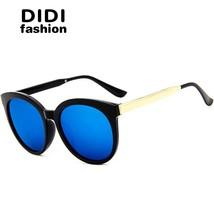 DIDI 2017 Top Grace Korean Rainbow Sunglasses Women Men Rose Gold Frame ... - $17.56