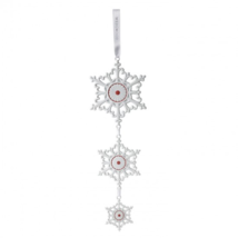 "WEDGWOOD Christmas Hanging Decoration Red Snowflake 2016 New 14"" - £82.49 GBP"