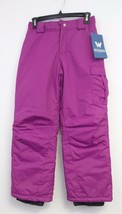 New Girl's White Sierra Cruiser Insulated Pants -Size: M- Color: Purple - $14.80