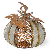 Galvanized Leafy Pumpkin by Boston International - £29.09 GBP