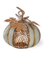 Galvanized Leafy Pumpkin by Boston International - $37.41