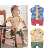 StylesILove Baby Boy Plaid Colorful Romper - $16.99