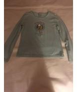 Girls Size Large Old Navy Light Blue Long Sleeve Top T Shirt Horse Pony ... - $10.00