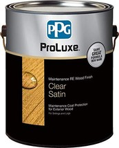 PPG ProLuxe Maintenance R.E. Wood Finish, 1 Gallon, 003 Clear Satin