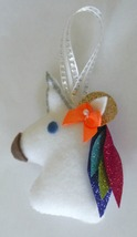 """Christmas Unicorn Ornament with sparkle and glitter 4"""" tall - $4.25"""