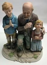 Vintage Rare Family Prayer Figurine Mickey & Co Father Children Porcelai... - $24.75