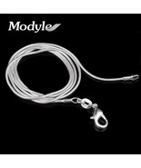 16-24 Inches Fine Silver-Color Necklace Chains With Lobster Clasps Set F... - $9.99
