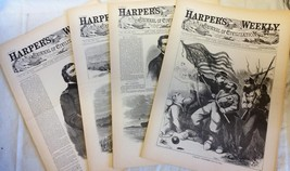 4 Issues September 6 13 20 27 1862 Harpers Weekly ReIssued Historic Newspapers