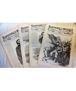 4 Issues September 6 13 20 27 1862 Harpers Weekly ReIssued Historic News... - $14.99