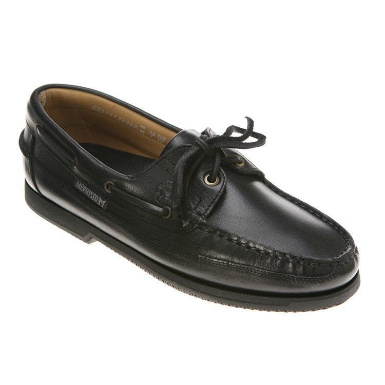 18b393d483 Mephisto Men's Hurrikan Boat Shoe Black Size and 50 similar items