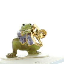 Hagen Renaker Miniature Frog Toadally Brass Band Trombone Ceramic Figurine