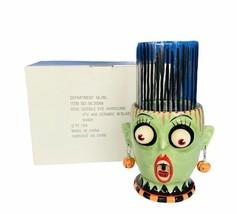 Department 56 google eye Bride Frankenstein Halloween candle holder Hurr... - $338.63