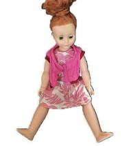 Uneeda Girl Doll Red Hair Blue Sleepy Eyes Vinyl Hard Plastic Vintage - $33.66