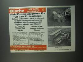 1991 Olathe Ad - 83/93 Aerator Slit Seeder, 71/831 Aerator/Polymer Planter - $14.99