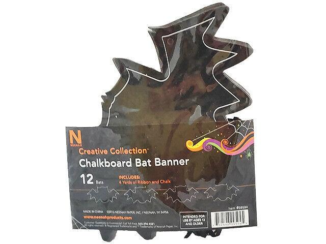 Neenah Creative Collection Halloween Chalkboard Bat Banner #99594
