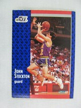 John Stockton Utah Jazz 1991 Fleer Basketball Card 203 - $0.98