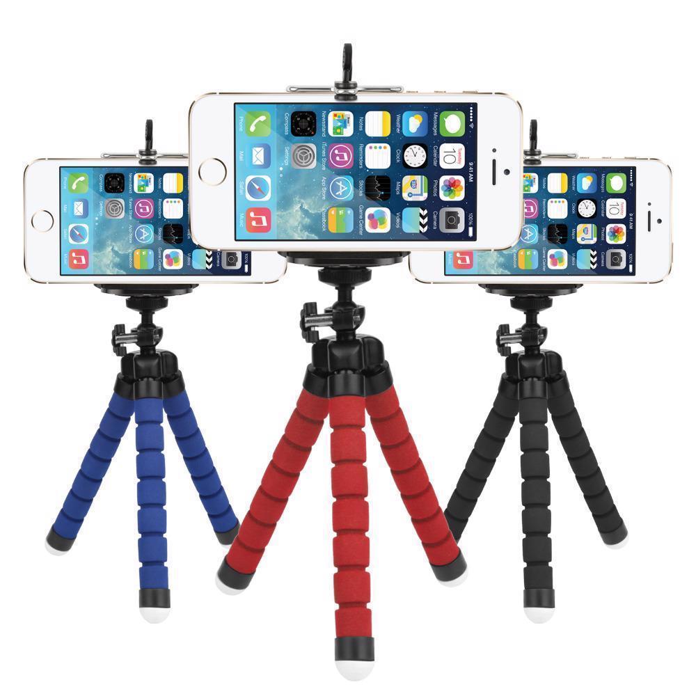 Flexible Sponge Mini Octopus Tripod Mobile Phone Gorillapod Gopro Camera Stand