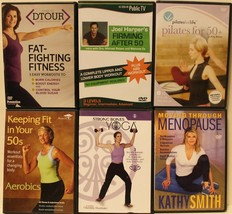 6 workout DVD lot for women in their 50s Pilates strong bones yoga menop... - $18.99