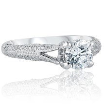1.46 Ct Round Cut Solitaire Diamond Engagement Ring 14k White Gold Split... - €2.378,89 EUR