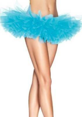 NEW LEG AVENUE WOMEN'S SEXY TUTU BALLET DANCE SKIRT A1705 ONE SIZE LIGHT BLUE