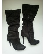 JEFFREY TYLER Tall High Heel Platform Dark Brown Boots Size 8 - $35.79