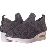 DKNY Angie Slip-On Wedge Sneakers 896, Two Tone Knit Dark Grey, 8.5 US /... - $45.11